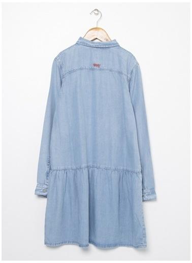 U.S. Polo Assn. U.S. Polo Assn. Açık Mavi Kız Çocuk Elbise Mavi